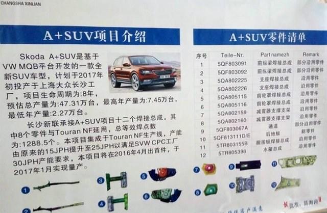 斯柯达全新中型SUV