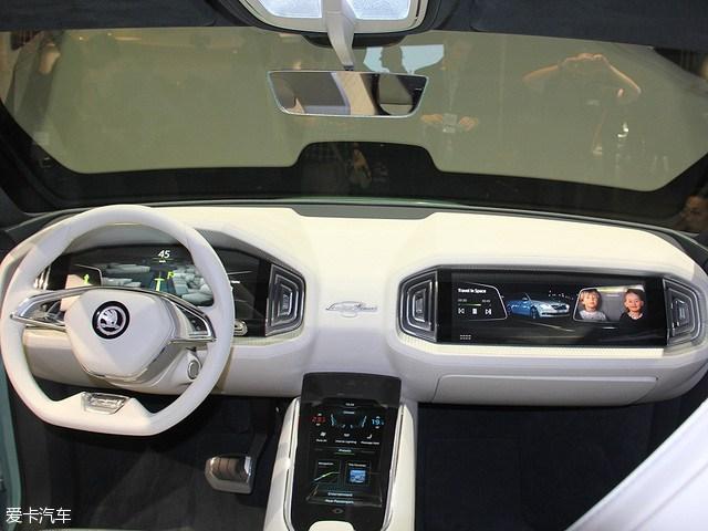 斯柯达VisionS概念车 日内瓦车越来越高展发布