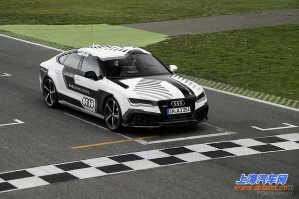 奥迪无人驾驶车高速测试 应用于下代A8高清图片