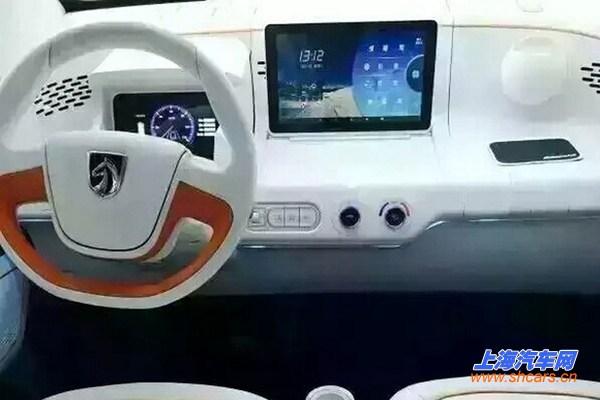 宝骏E100电动车申报图曝光 预计10月上市高清图片