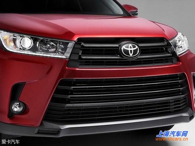 丰田新款汉兰达官图发布 纽约车展首发